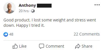 Testimonial Anthony.